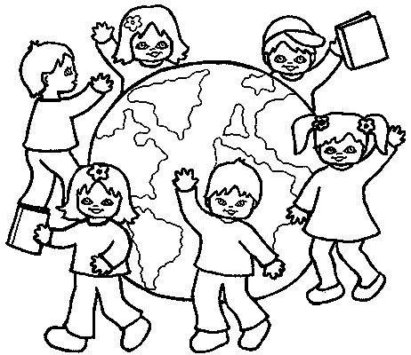 Children Around The World Coloring Pages to download and print for free