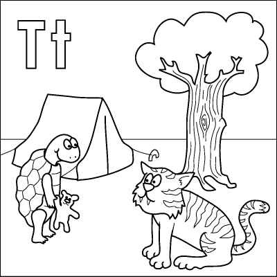 coloring pages for t | Letter T coloring pages to download and print for free