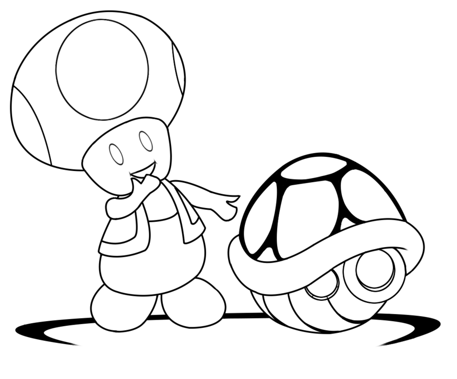 toad coloring pages to and print for free