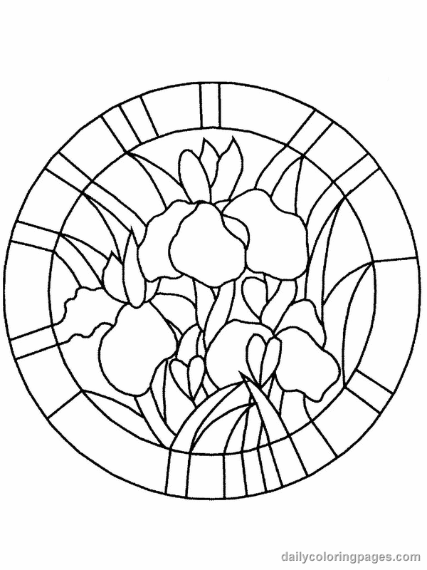 free stained glass coloring pages - stained glass window coloring pages download and print for