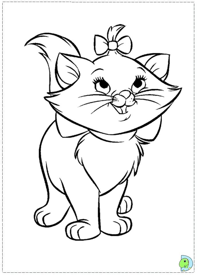 Disney marie cat coloring pages