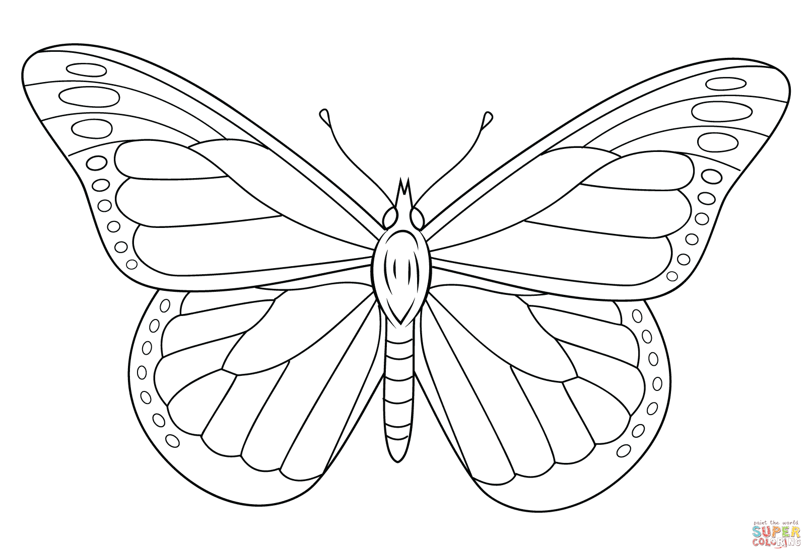 Monarch butterfly coloring pages download and print for free