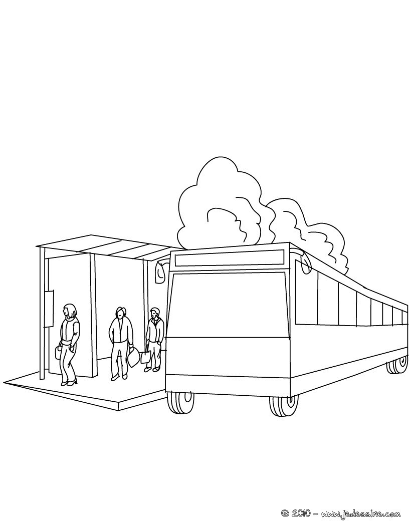 Bus station coloring pages download and print for free - Dessin anime de bus ...