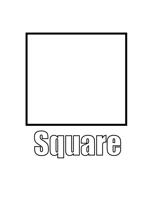 coloring pages for square shape - photo#5