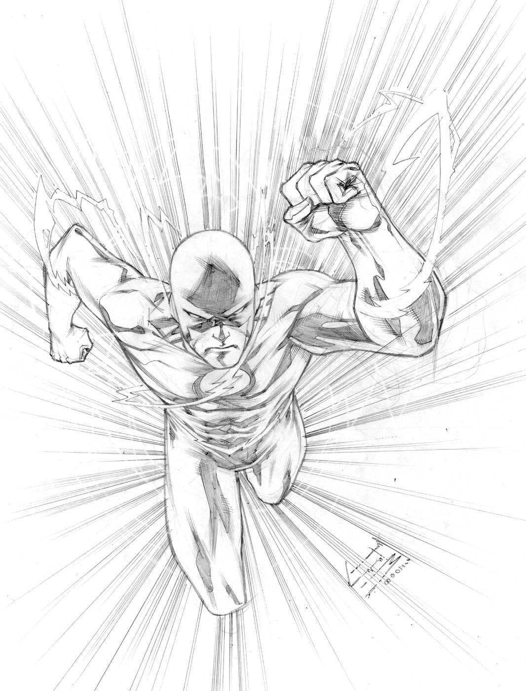 Dc Comics Flash Coloring Pages Picture