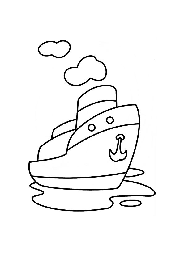 Steam Boat Coloring Book Coloring Coloring Pages