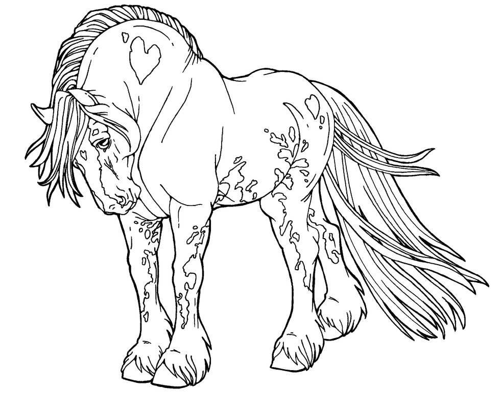 This is a picture of Irresistible Horse Coloring Pages Realistic