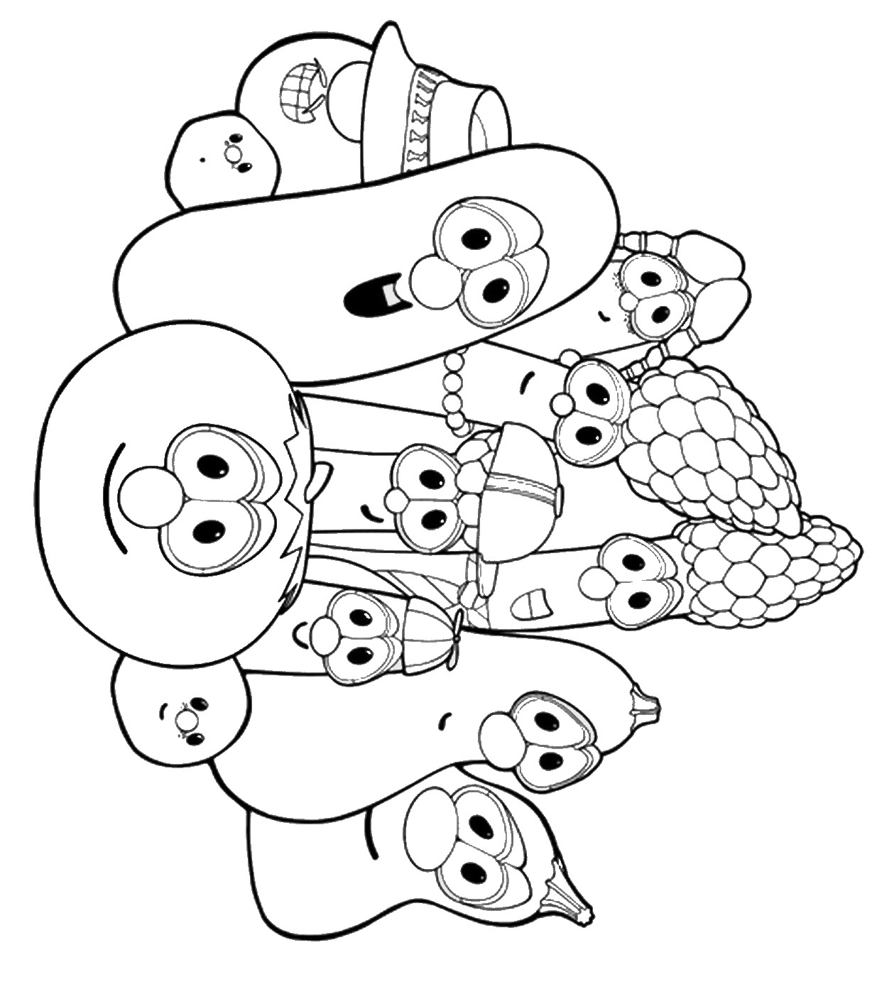 Veggietales Coloring Pages Sketch Coloring Page