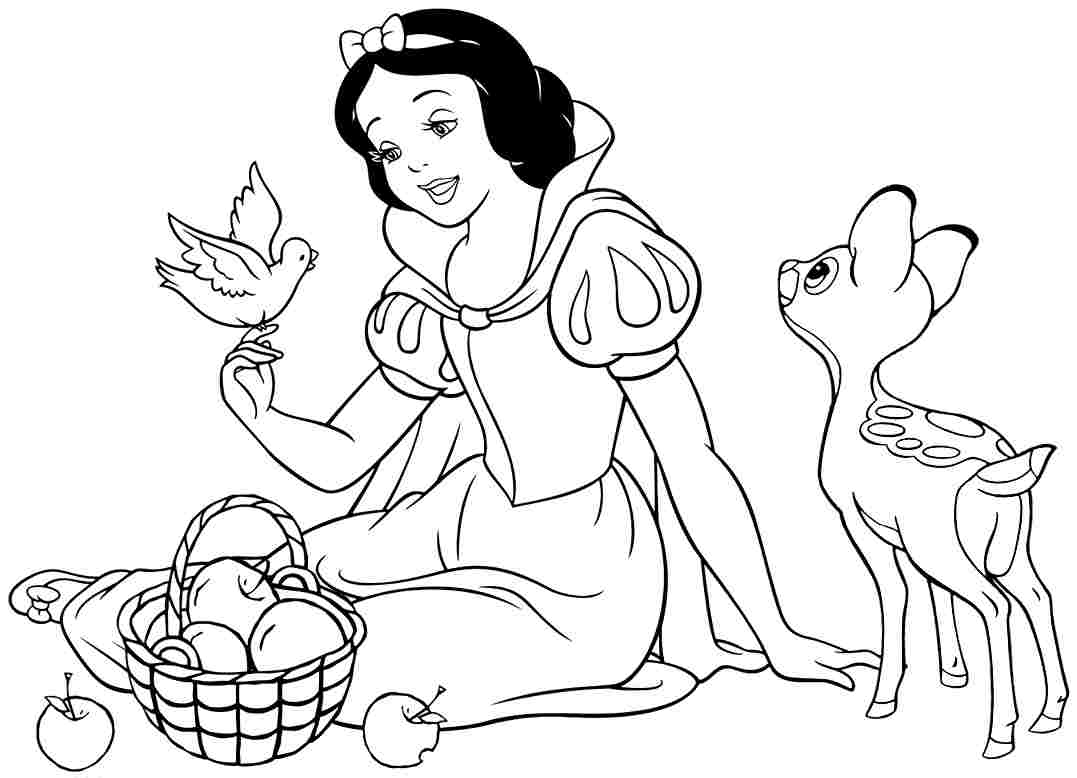 coloring pages of snow whitw - photo#13