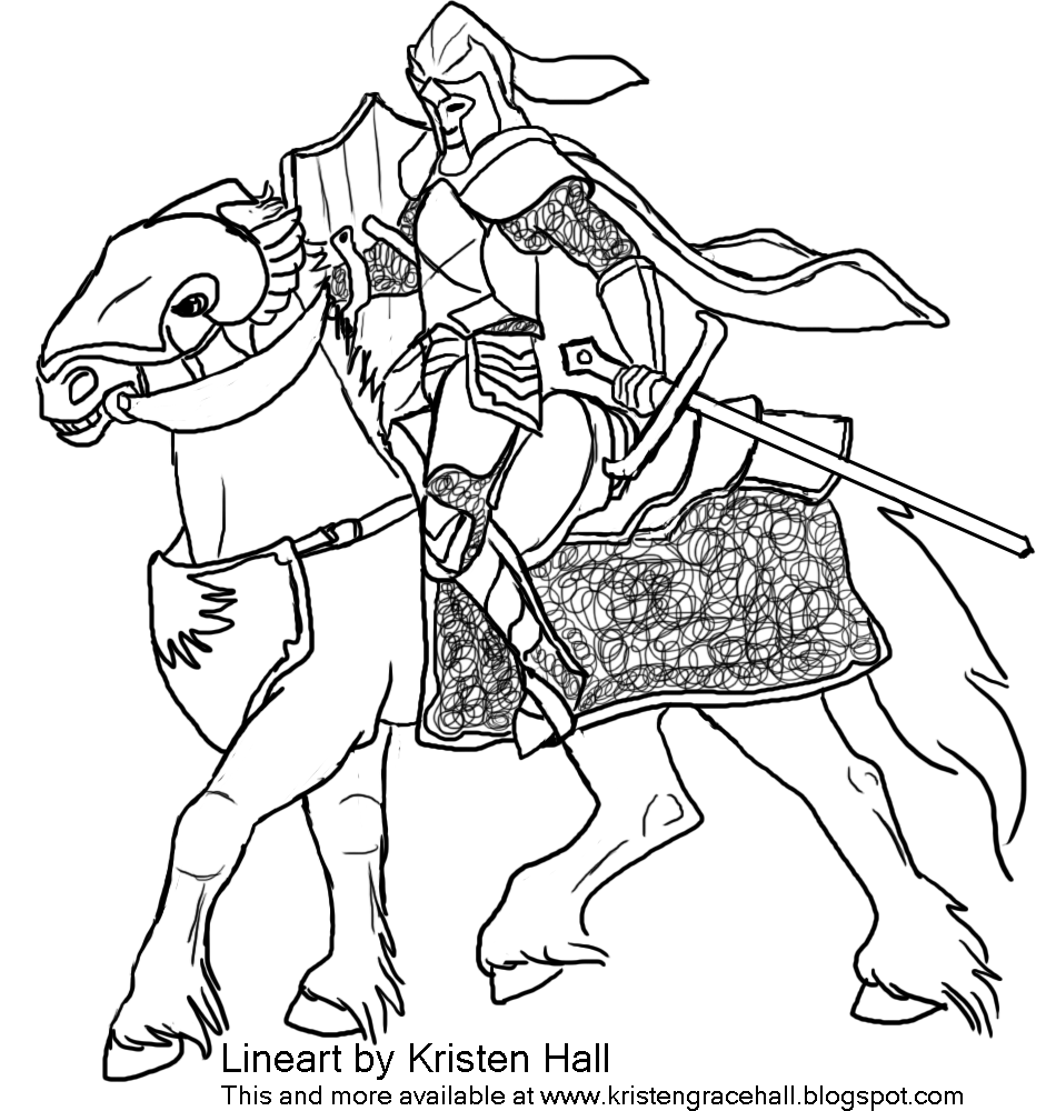 Knight coloring pages to download and print for free