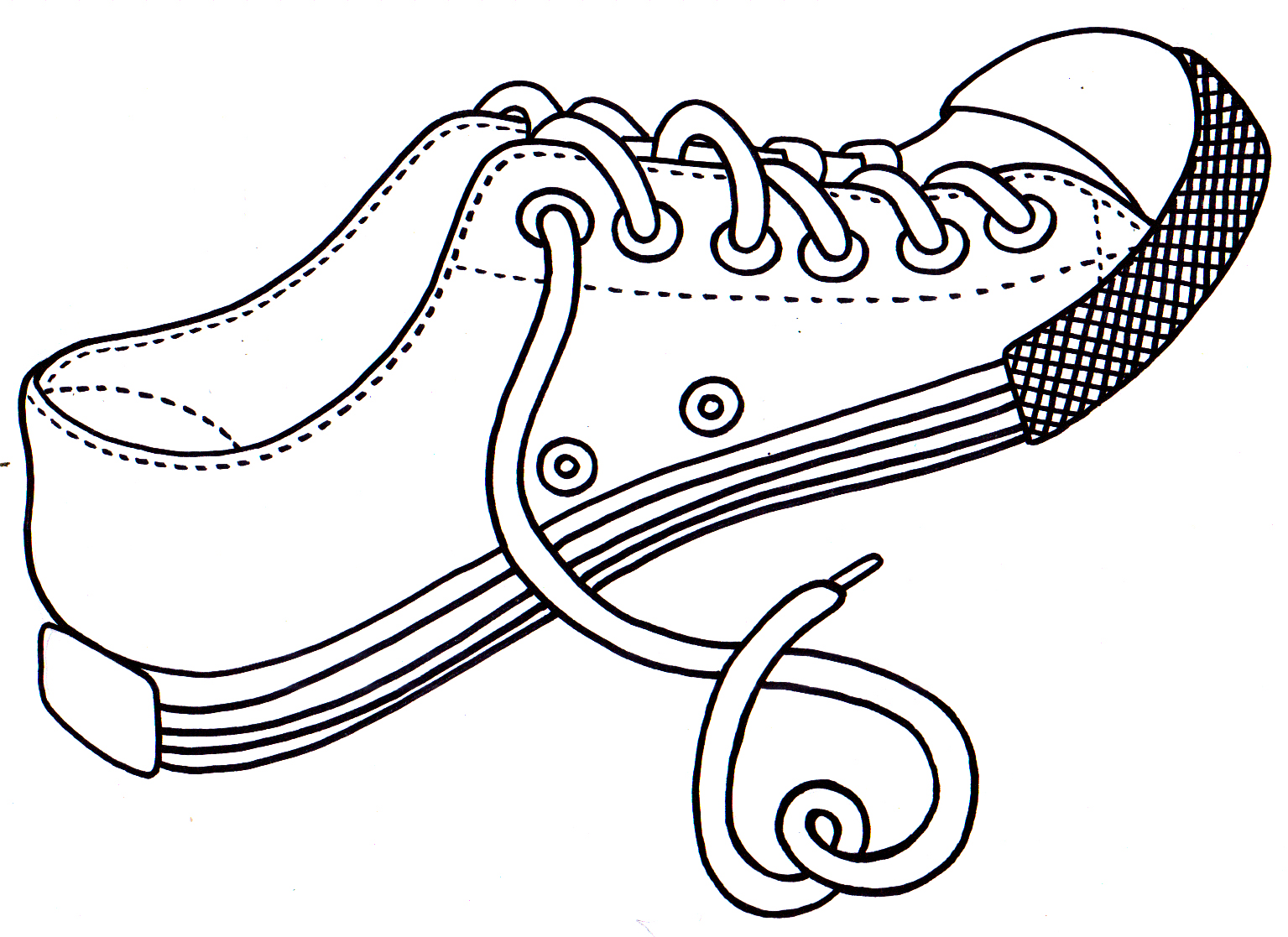 childrens coloring pages shoes - photo#19