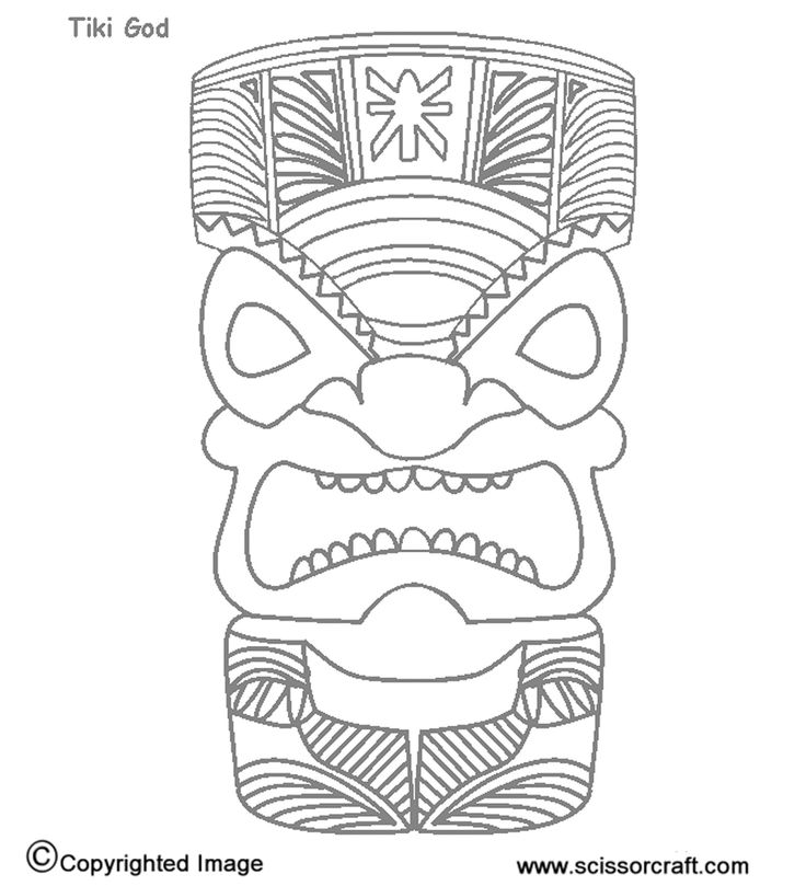 coloring pages tiki - photo#26