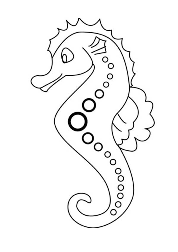 seahorse coloring pages to print - photo#10
