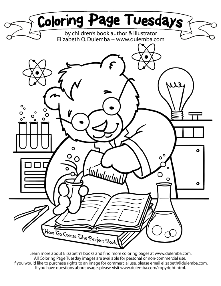 science coloring pages to download and print for free - Scientist Coloring Pages Print