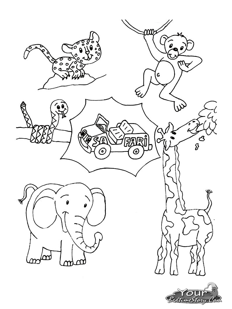 Safari coloring pages to download