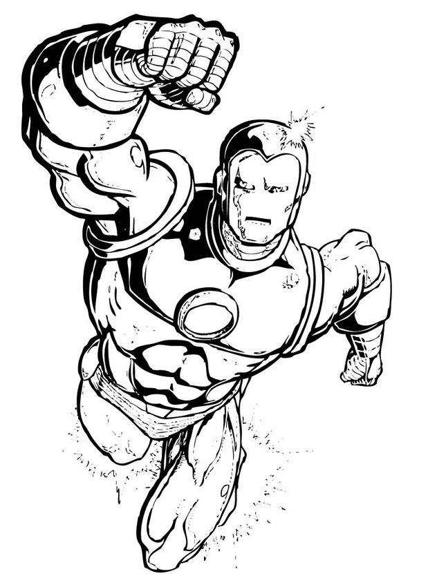 superhero coloring pages - Free Superhero Coloring Pages To Print