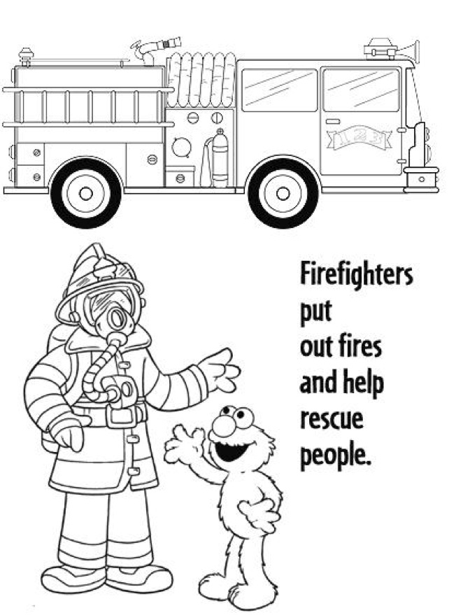 childrens fire safety coloring pages - photo#41