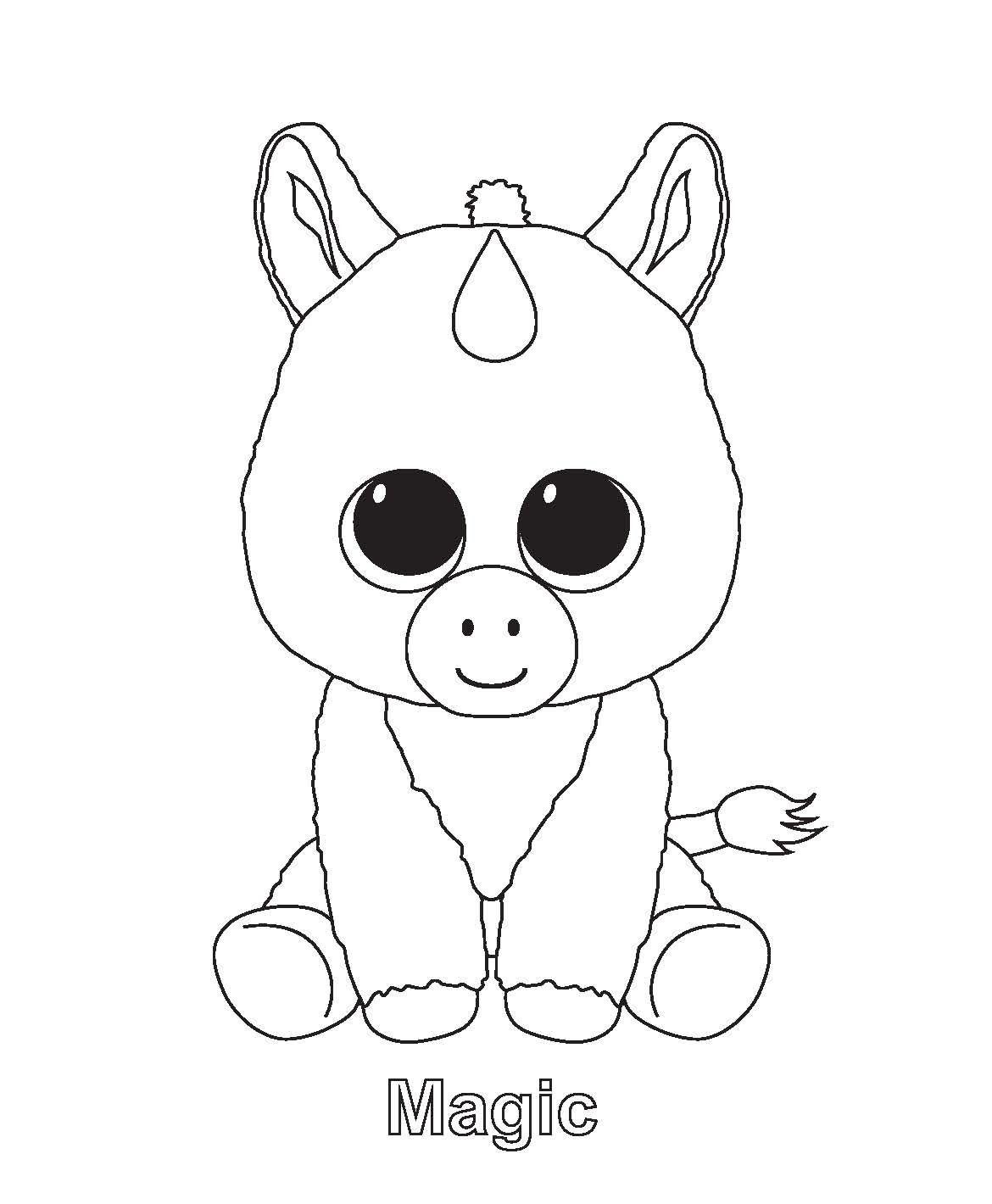 Boo Magic Beanie Boo Beanie Boo Dog Coloring Pages Ty