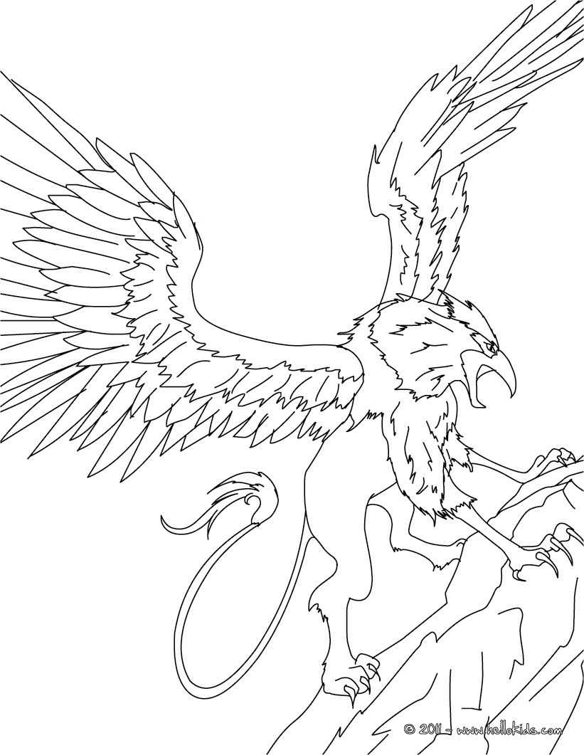 Mythological Creatures Coloring Pages Download And Print