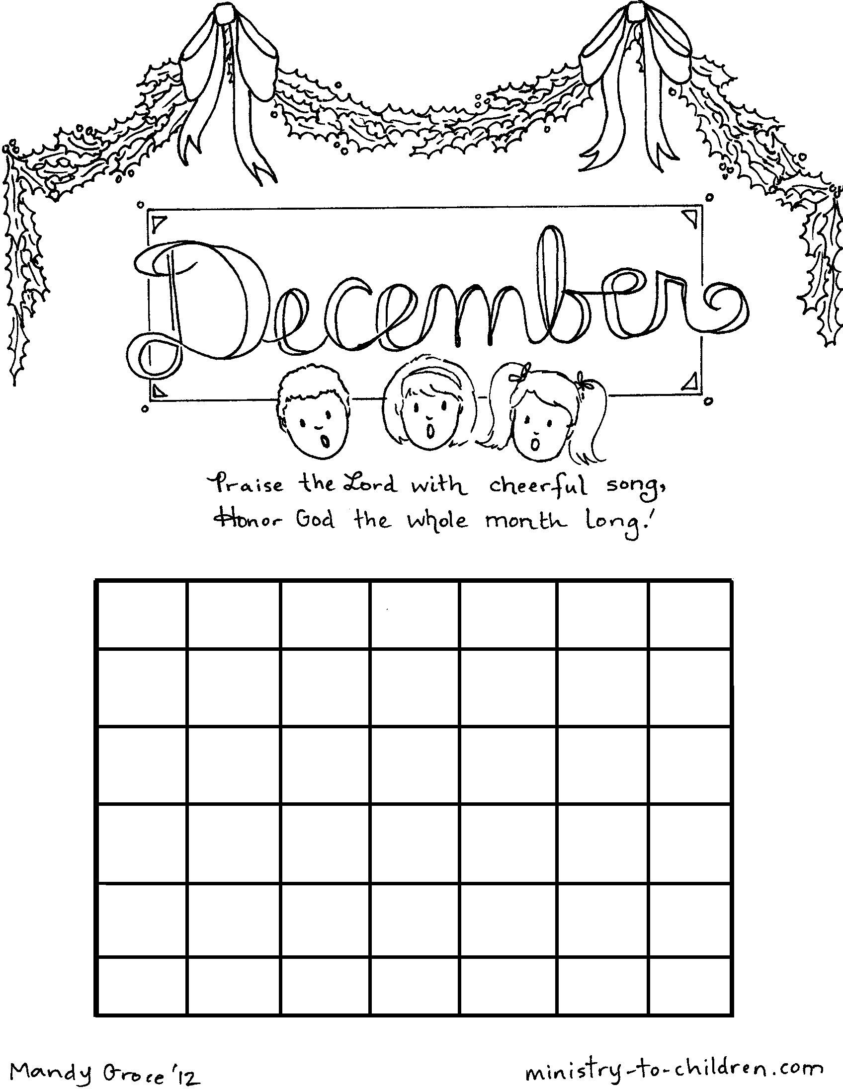 Free Printable Kids Coloring Calendar Sept