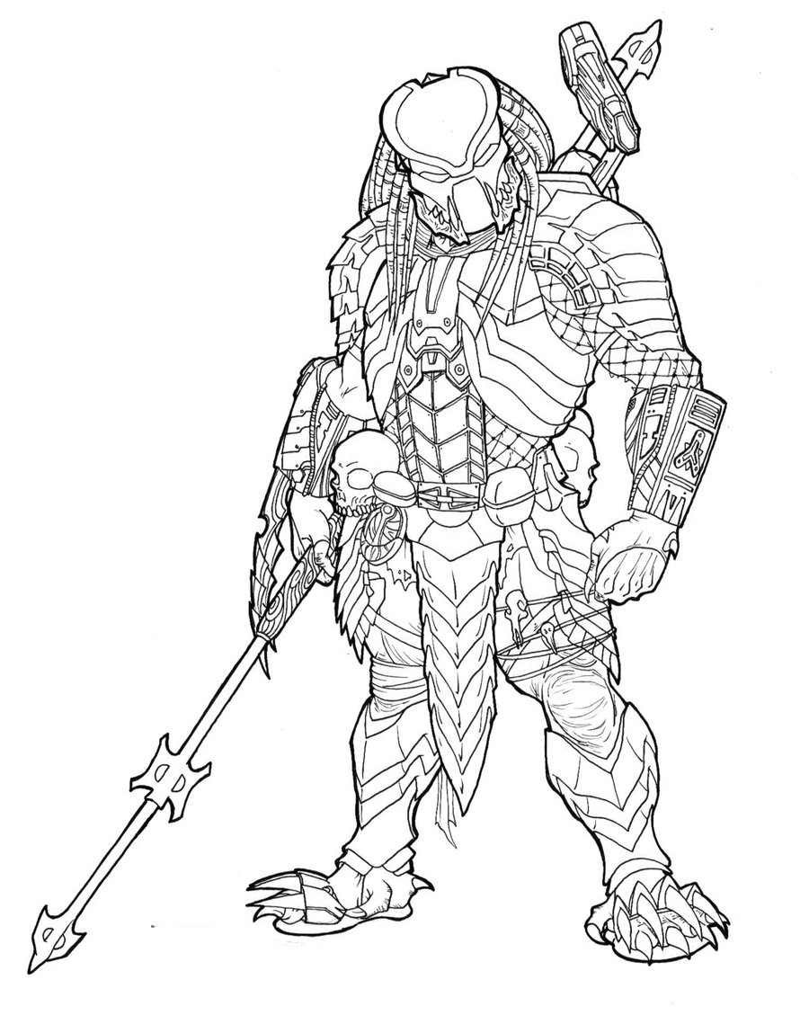 predator coloring pages - photo#15