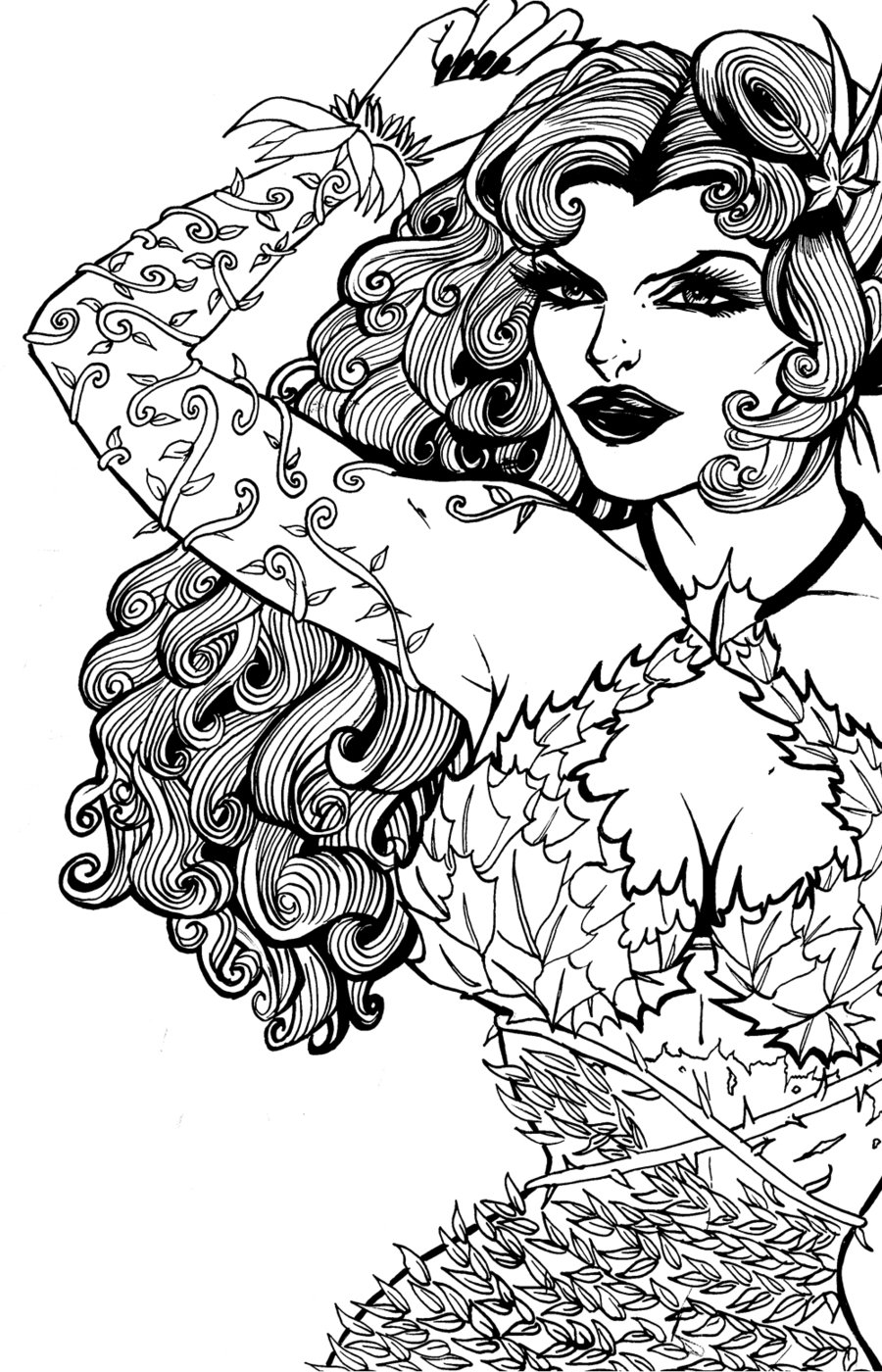 poison ivy coloring pages to download and print for free