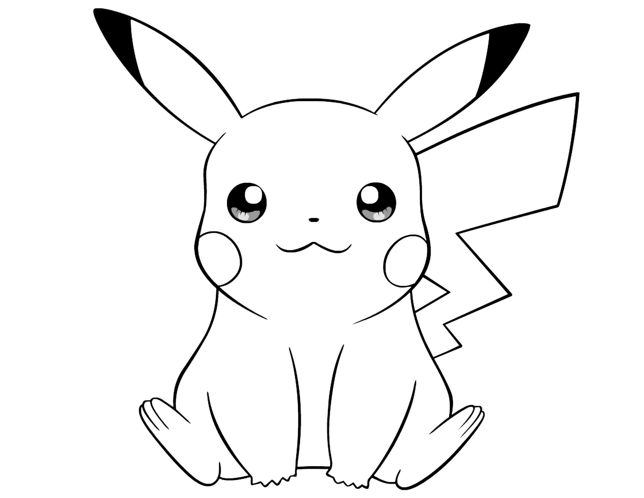 This is a picture of Effortless Coloring Pages Of Pikachu