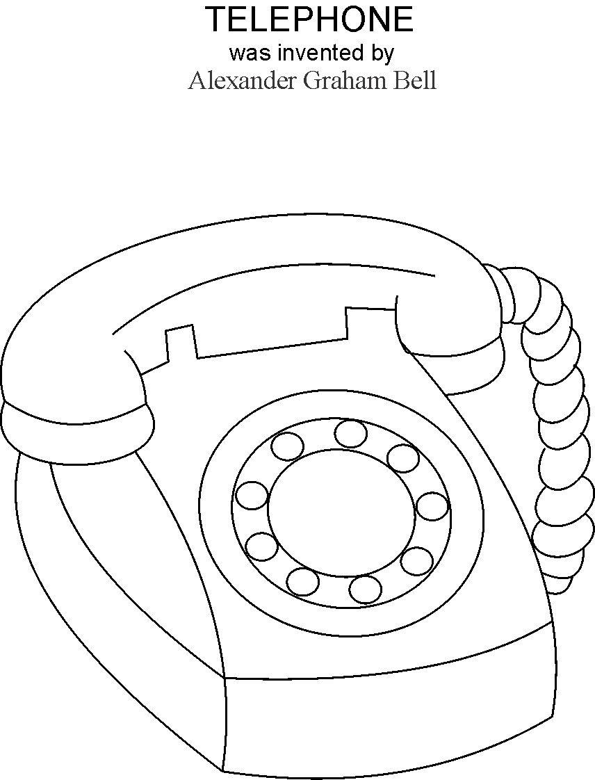 Phone coloring pages to download and print for free