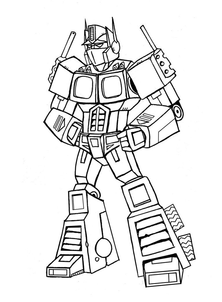 optimus prime coloring pages to and print for free
