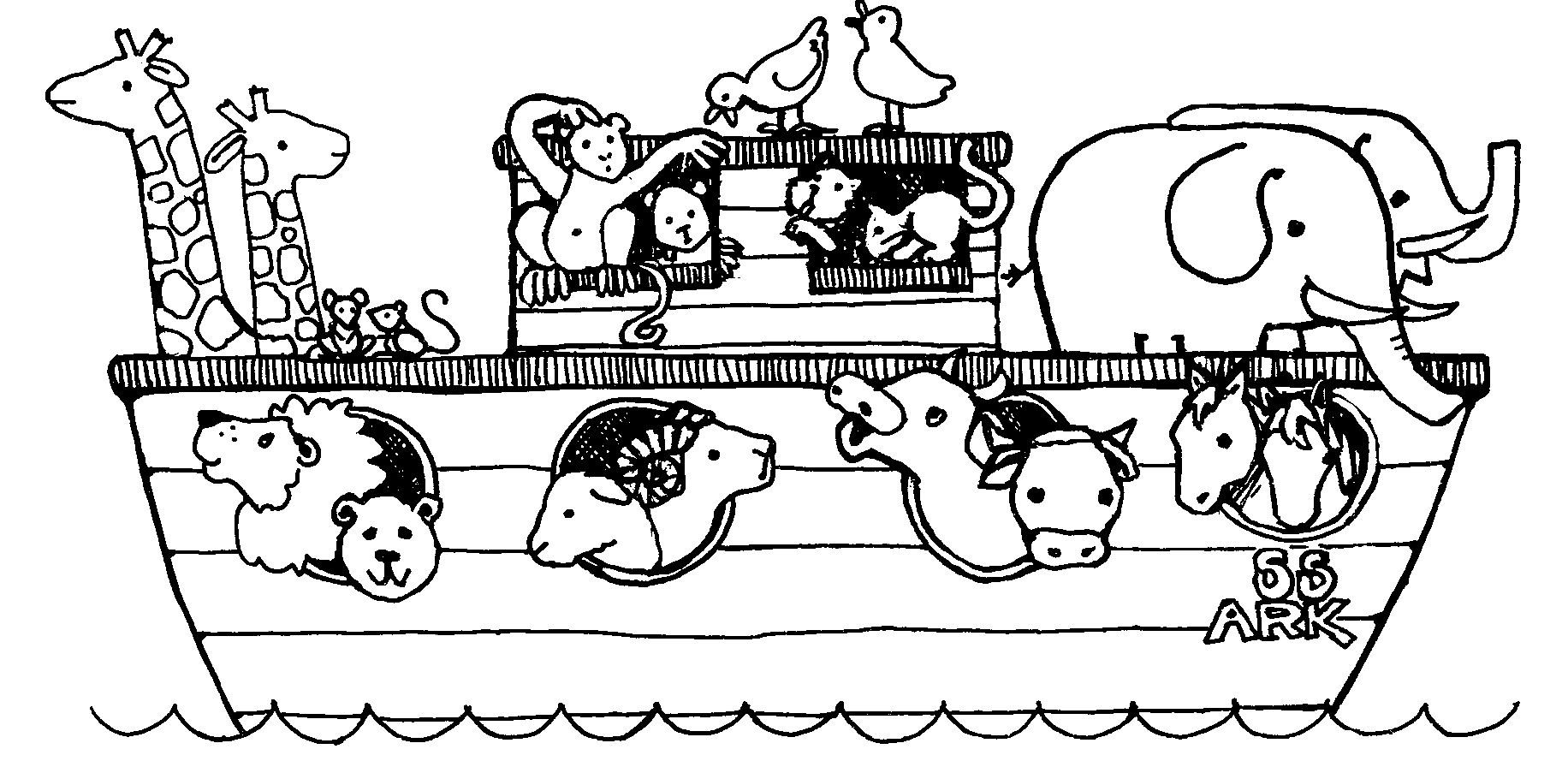 coloring pages noahs ark - photo#24