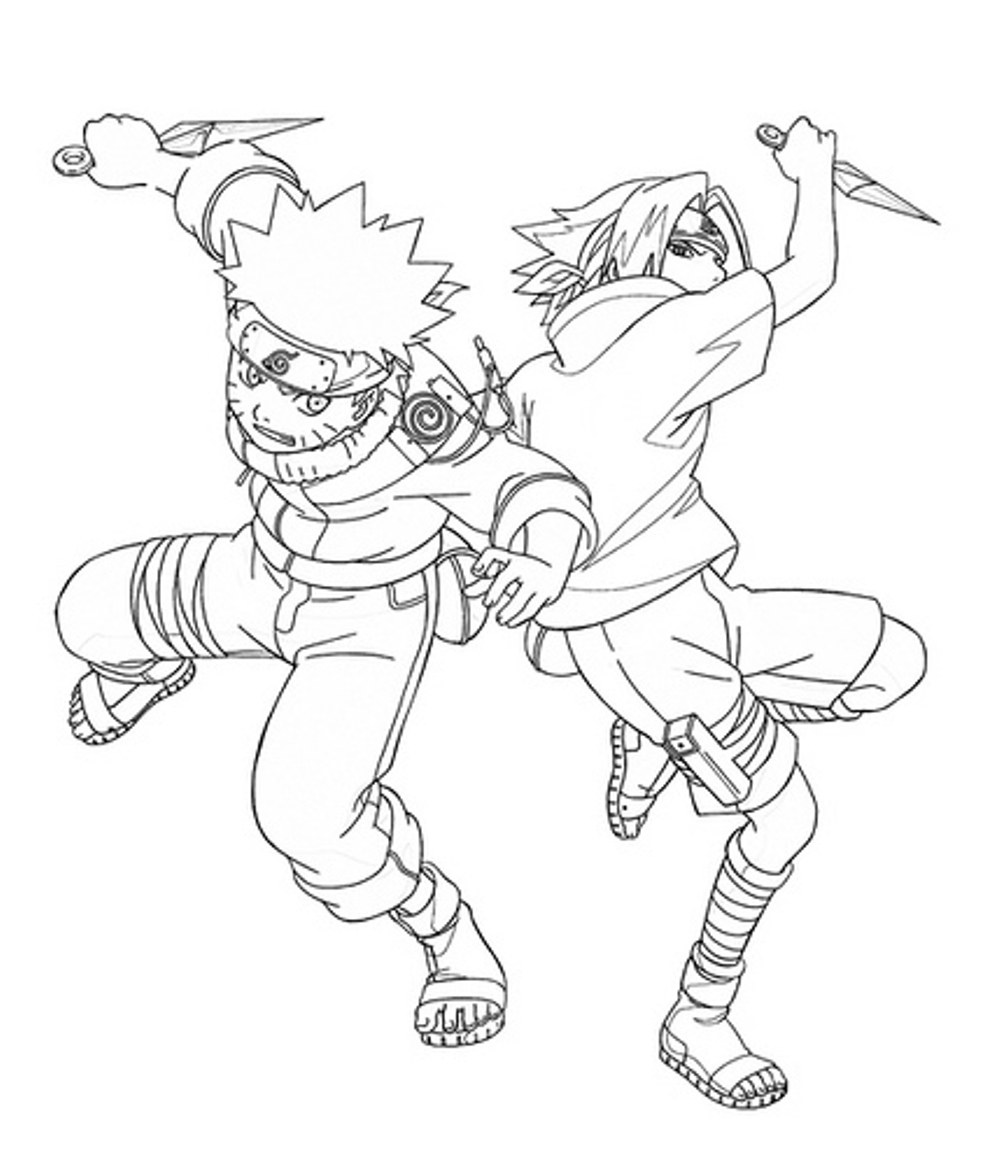 Naruto coloring pages to download and print for free for Anime coloring pages naruto