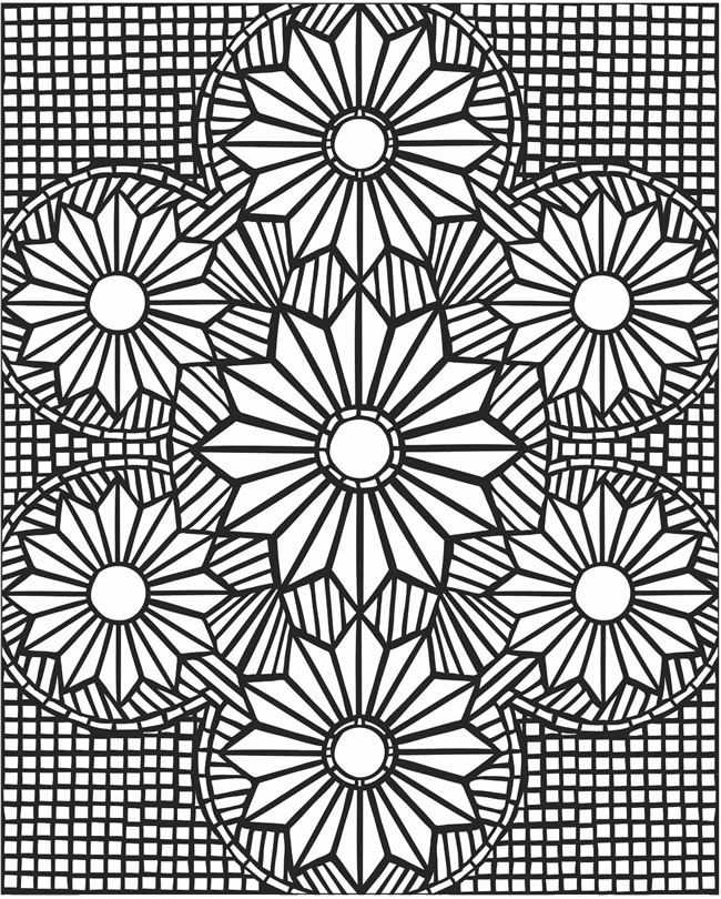 This is a graphic of Clean mosaic coloring pages