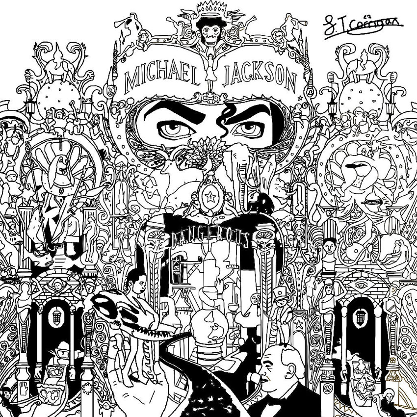 Coloring Book Album Cover : Michael jackson coloring pages to download and print for free