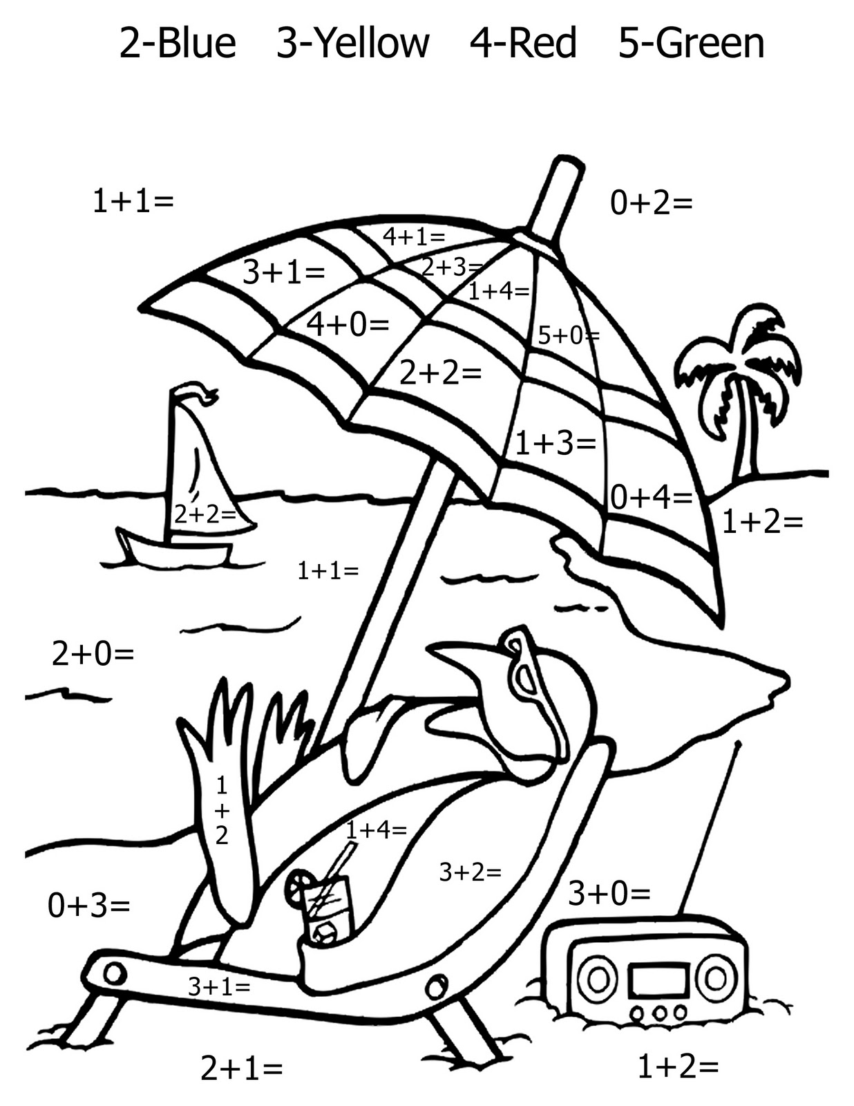 integer coloring activity pages - photo#8