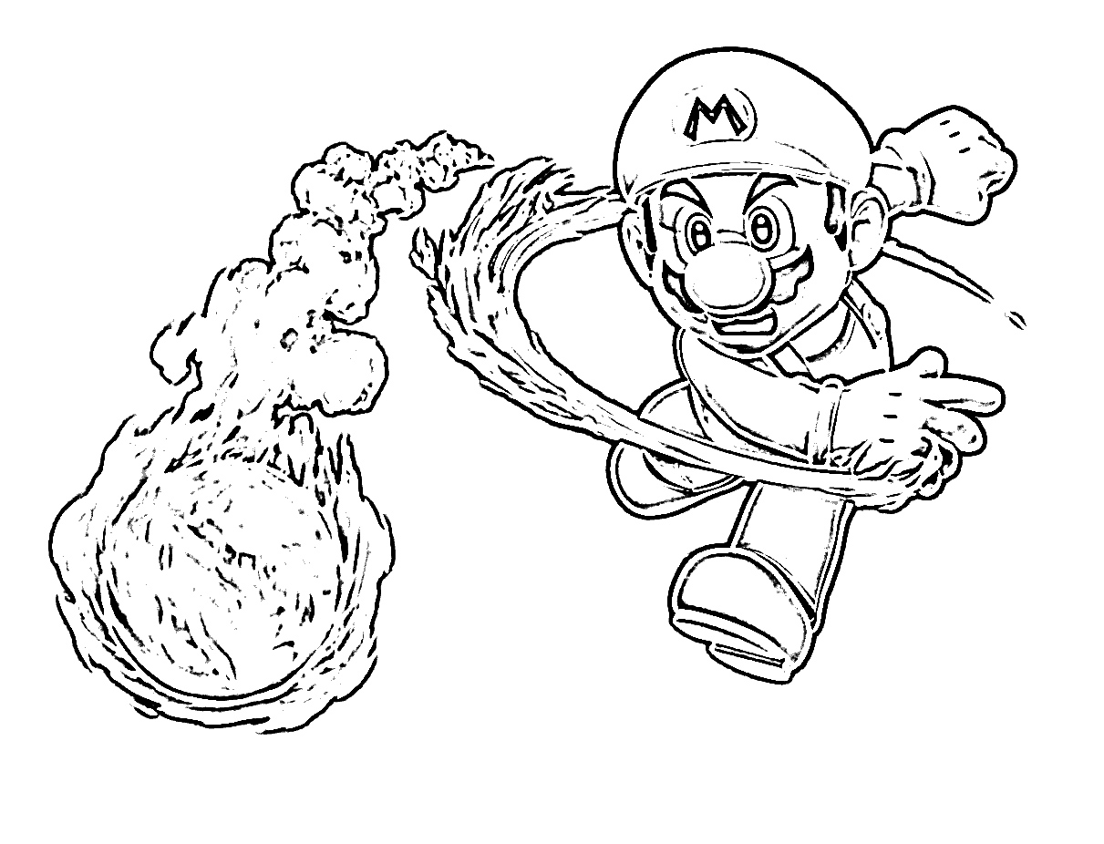 Mario kart coloring pages to download and print for free