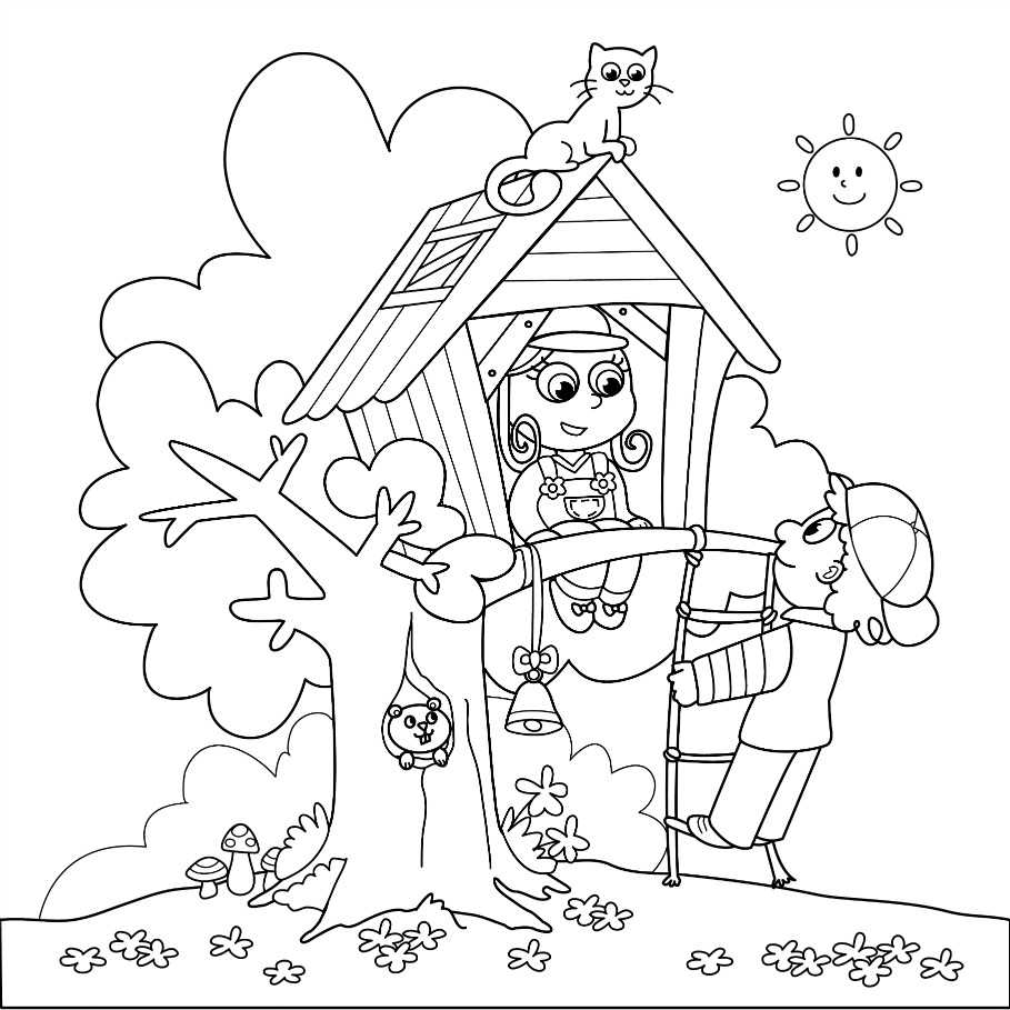 Magic Tree House Coloring Pages To Download And Print For Free Children S Tree Coloring Pages