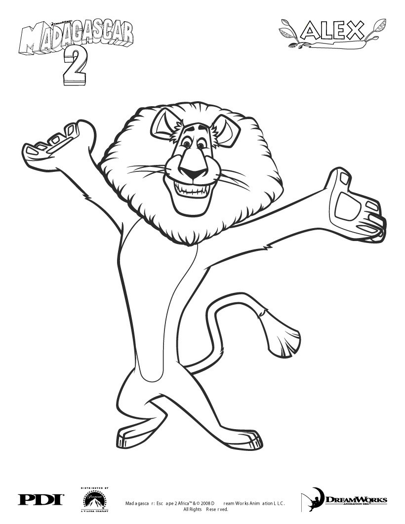 Madagascar coloring pages to download and print for free