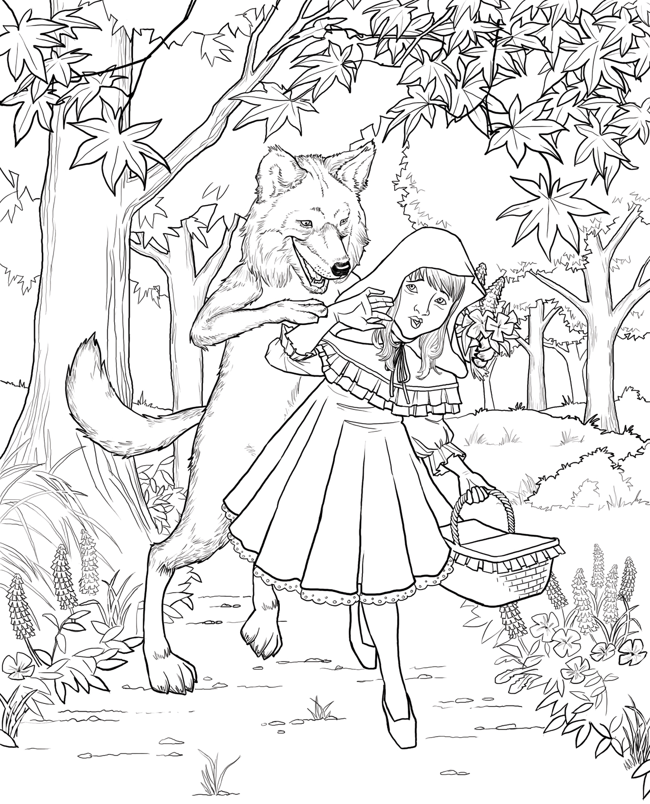 red riding hood coloring pages - photo#5