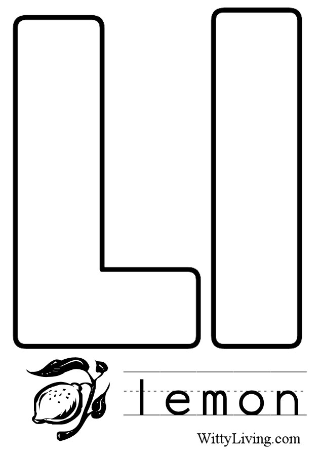 letter l coloring pages to and print for free