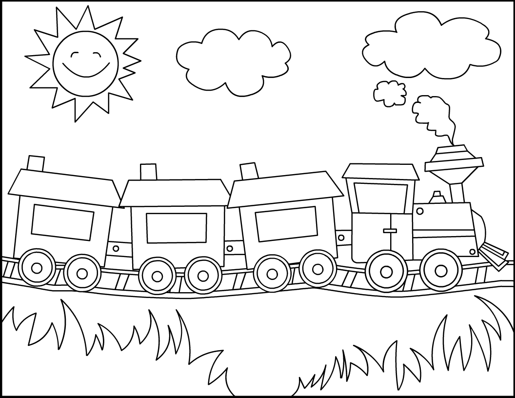 Polar express coloring pages to download and print for free for Coloring page of a train