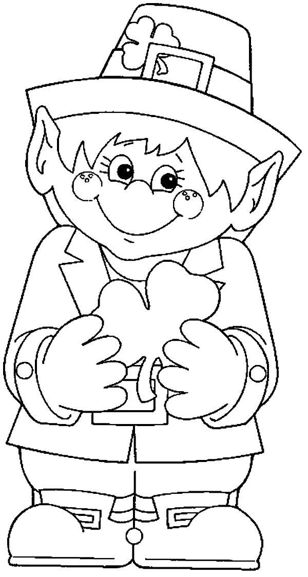 Légend image throughout leprechaun coloring pages printable