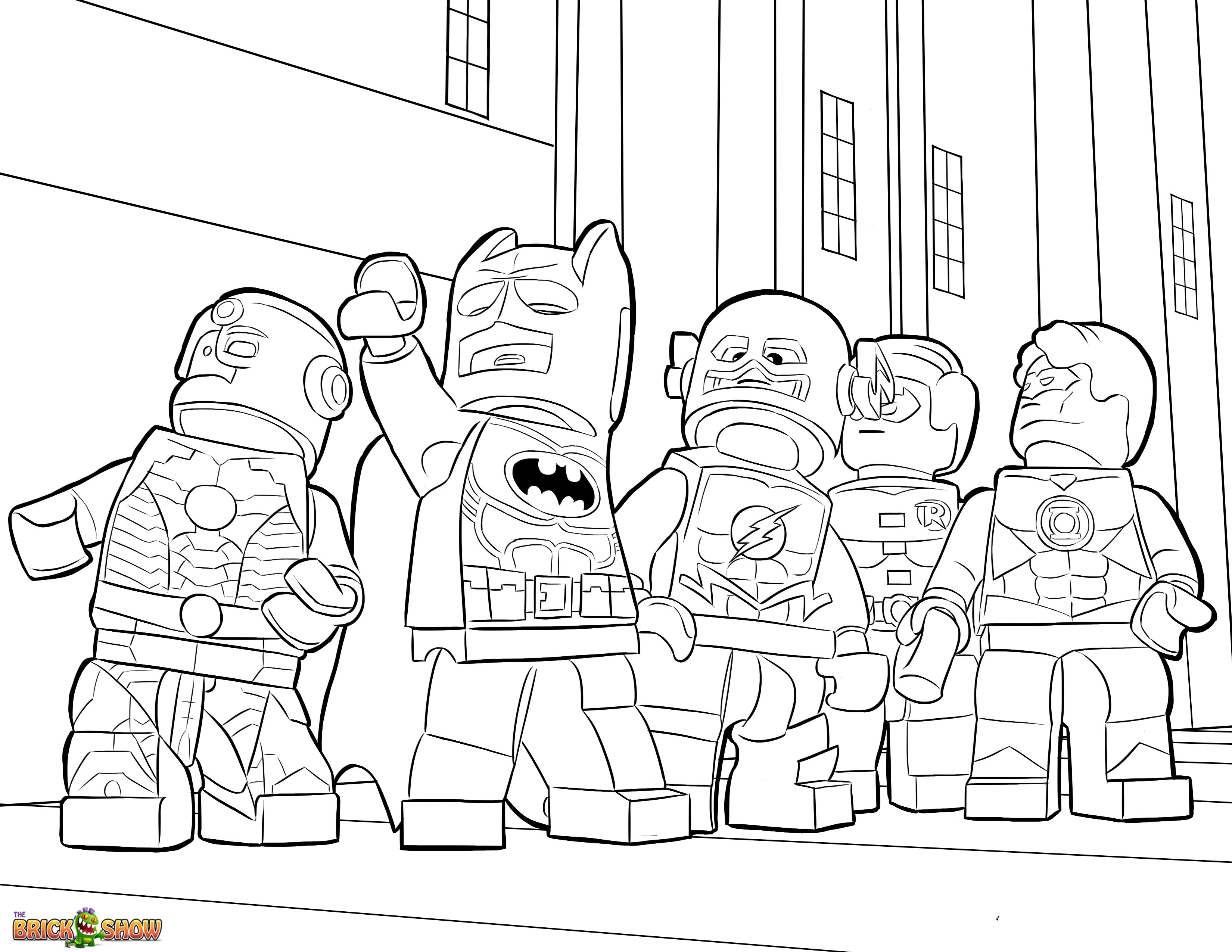 Lego superman coloring pages to download and print for free