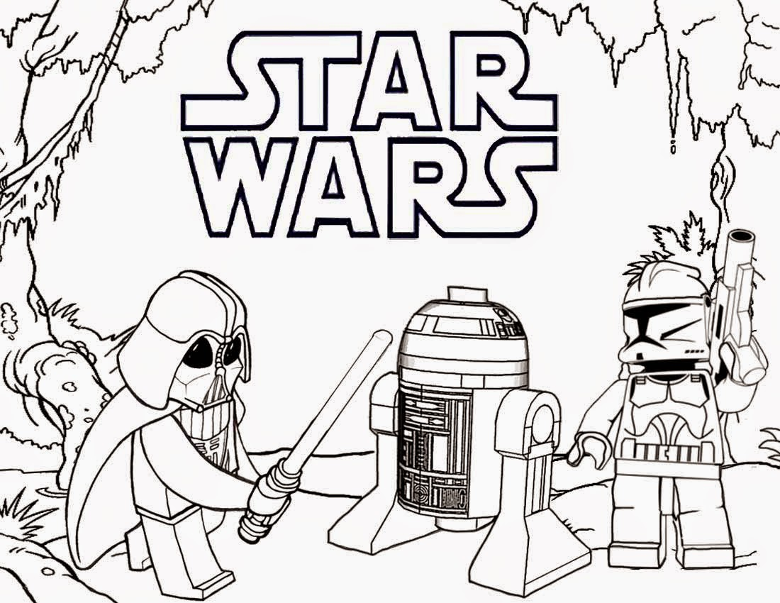 Best Website For Free Coloring Pages : Lego star wars coloring pages to download and print for free