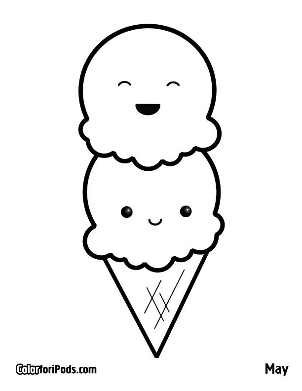 kawaii coloring pages - Color Pages