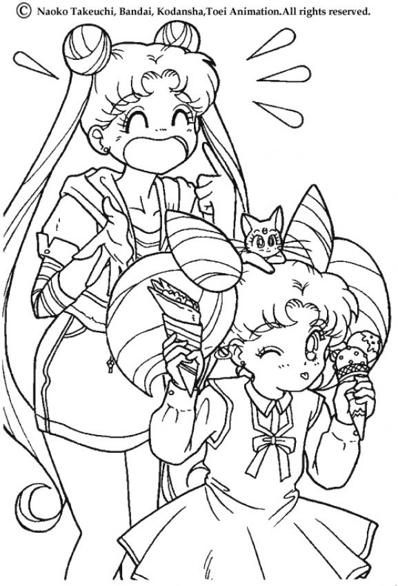 manga cartoon coloring pages - photo#3
