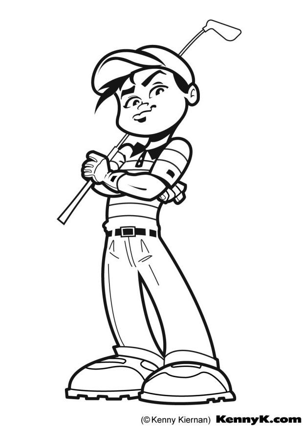 Free Coloring Pages Golf Coloring pages golf sports gt free