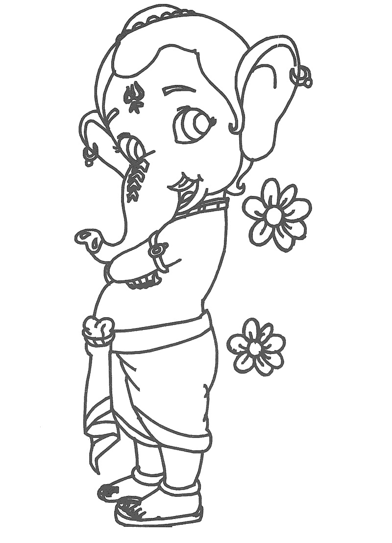 Ganesha coloring pages to download