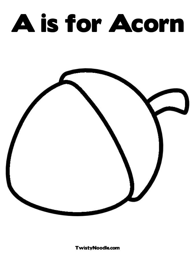 Acorn coloring pages to download and print for free