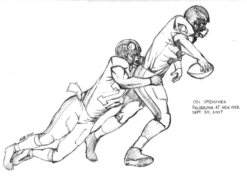 free coloring pages football player - photo#24