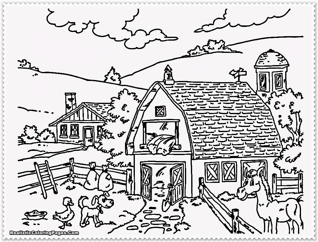 Farm coloring pages to download